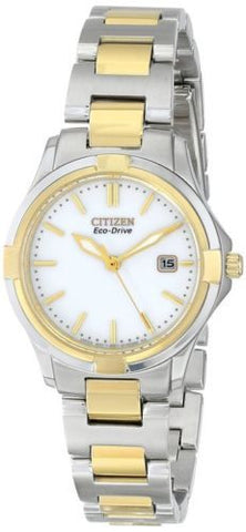 Citizen Eco Drive EW1964-58A Silhouette Two-Tone Stainless Steel Women's Watch