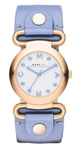Marc by Marc Jacobs MBM1307 Rose Gold Tone Blue Leather Strap Women's Watch