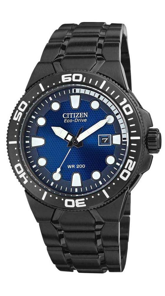 Citizen Eco Drive BN0095-59L Blue Dial Black Ion Plated Stainless Steel Men's Watch