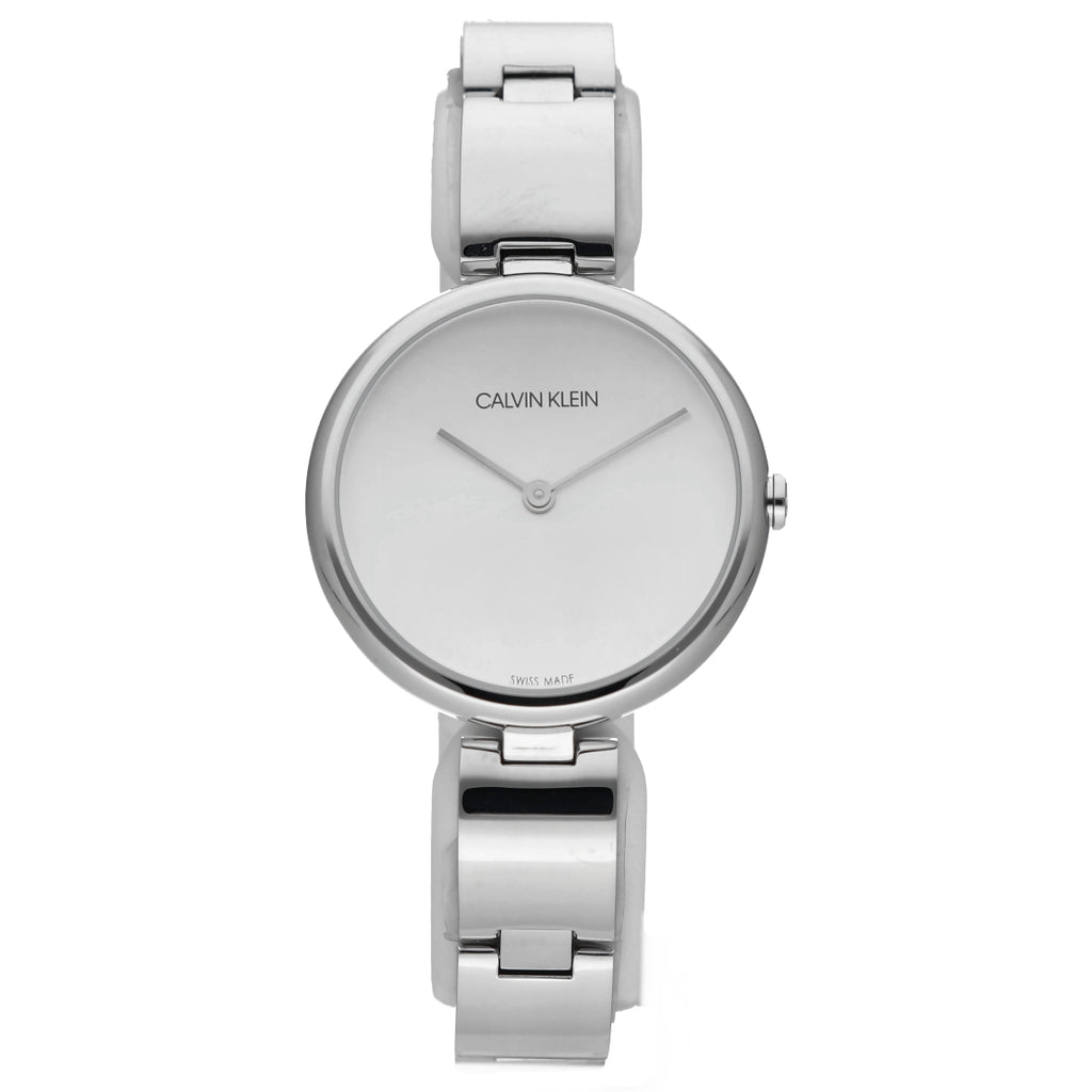 Calvin Klein K9U23146 Stainless Steel 32mm Silver Dial Swiss Quartz Women's Watch