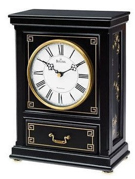 Bulova B7665 Willow Wood Case Triple Chime Quartz Movement Mantel Clock