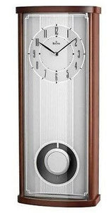 Bulova Airstocrat C4334 Solid Wood Case White Dial Wall Clock