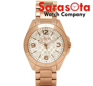 Coach 14501780 Tristen Silver C Dial Rose Gold Steel Round Analog Women's Watch