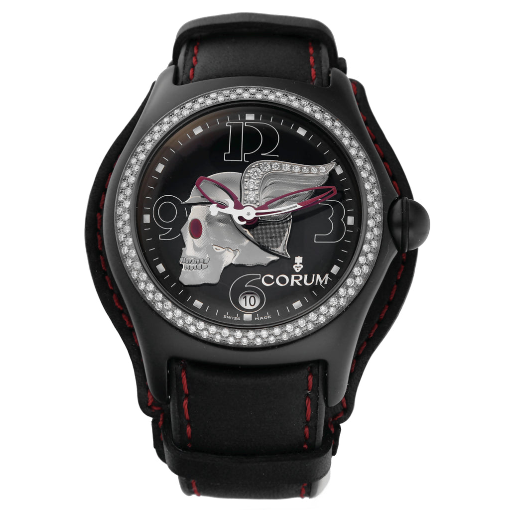 CORUM BUBBLE NIGHT FLYER STEEL PVD