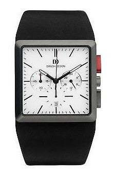 Danish Design IQ12Q869 Stainless Steel Chronograph Leather Strap Men's Watch