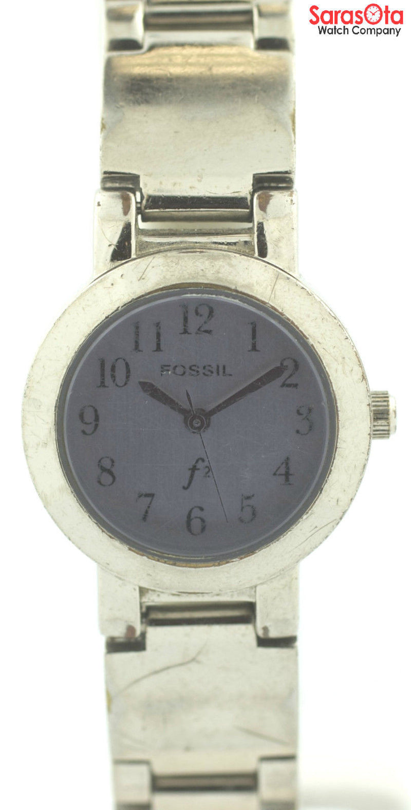 Fossil ES-9001 Purple Dial Stainless Steel Quartz 30M Dress Women's Watch