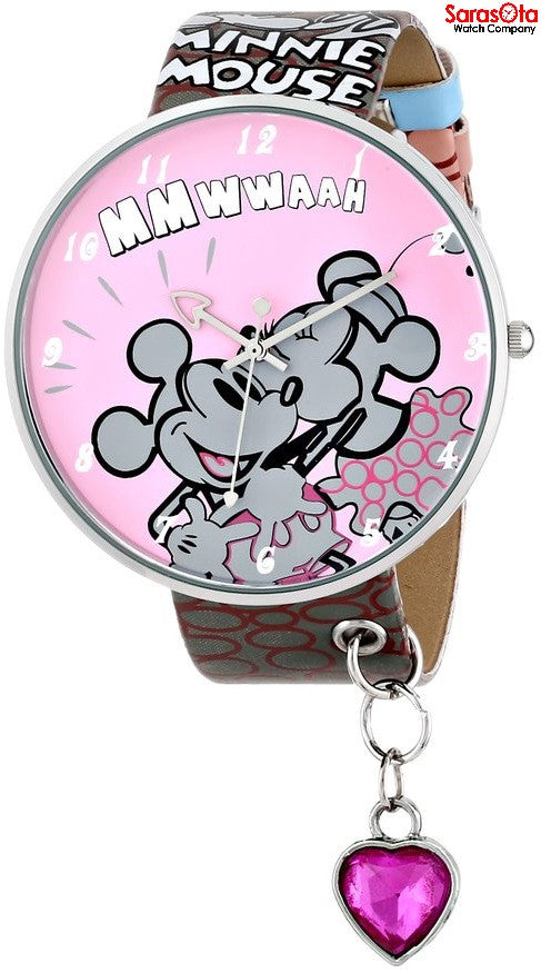 Disney Ingersoll IND25333 Pink/Gary Mickey-Minnie Art Dial Quartz Women's Watch