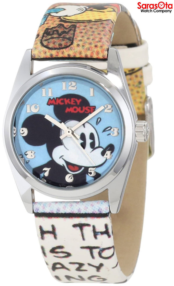 Disney Ingersoll IND25651 Mickey Dial Multi Color Leather Quartz Men's Watch