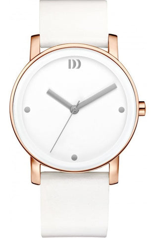 Danish Design IV17Q1049 Stainless Steel Case Leather Band Women's Watch