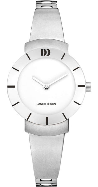 Danish Design IV62Q1053 Titanium Case & Band White Dial Women's Watch