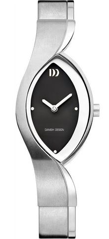 Danish Design IV63Q1054 Titanium Case & Band Black Dial Women's Watch