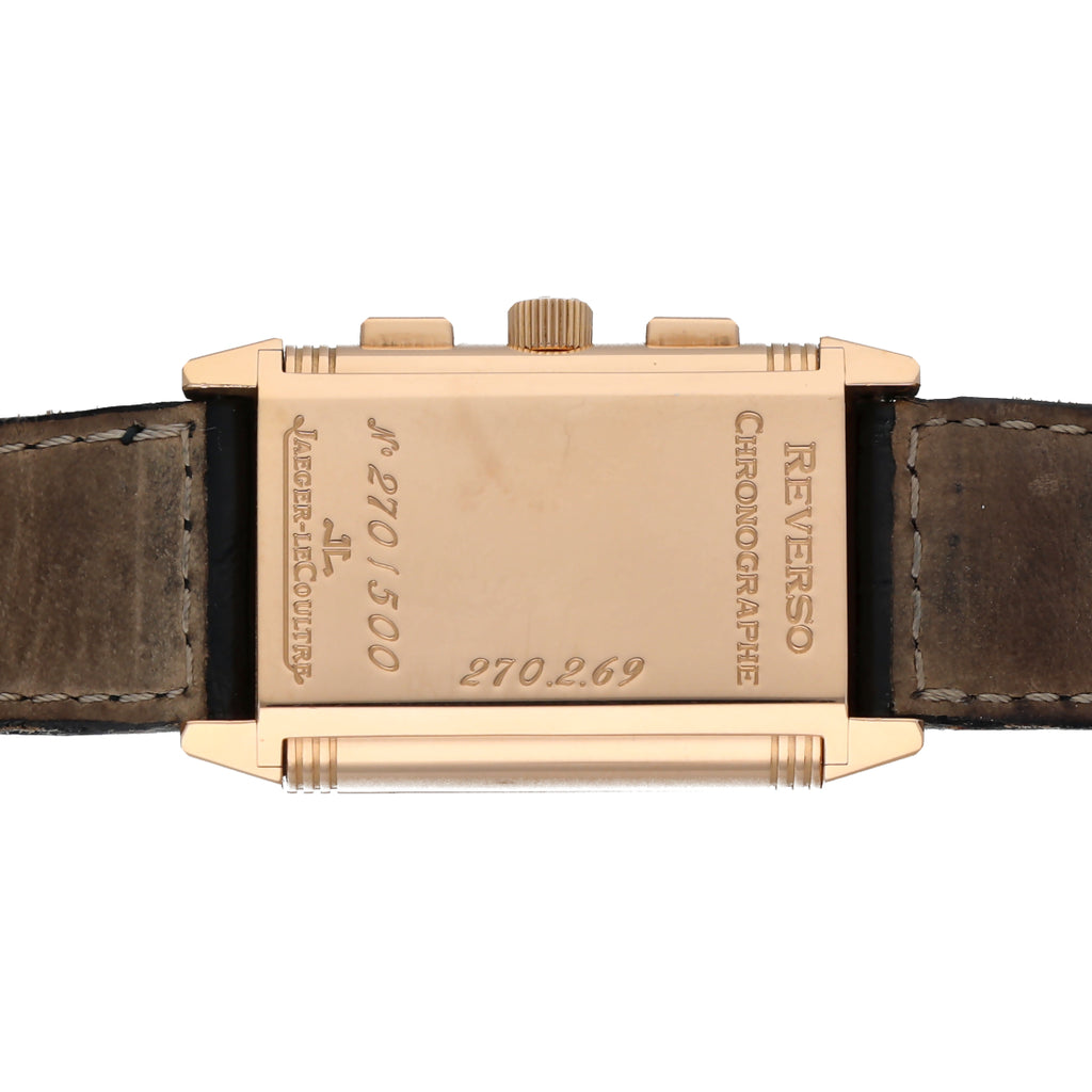 Jaeger-LeCoultre 270.2.69 Reverso Chronograph Retrograde 18k Rose Gold Men's Watch