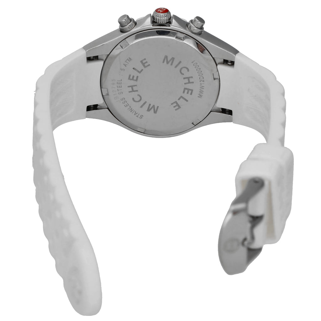 Michele MWW12D000001 Tahitian Chronograph White Rubber Quartz Women's Watch