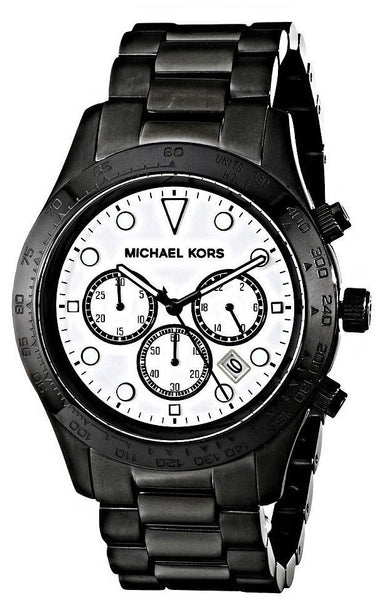 Michael Kors MK6083 Layton Chronograph Black Stainless Steel Dress Men's Watch