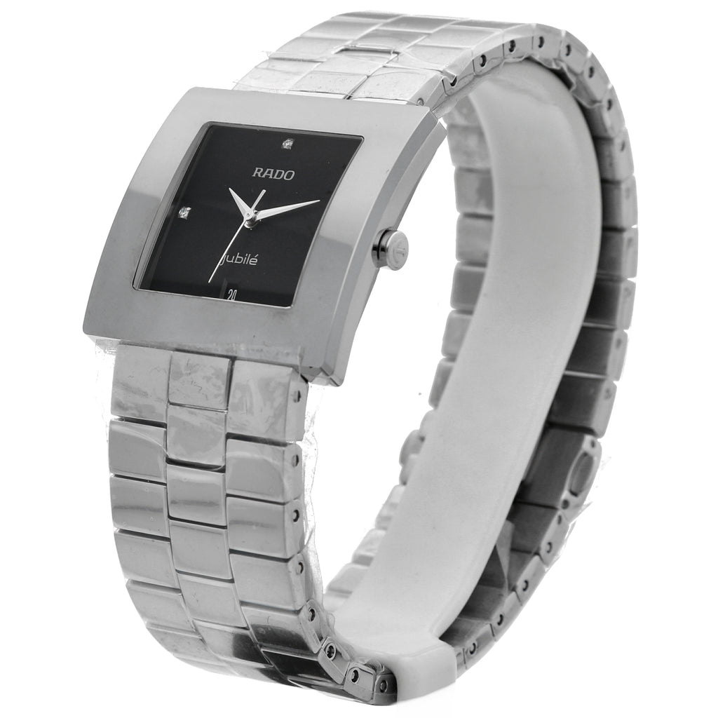 Rado Diastar Jubile R18681703 Stainless Steel Black Dial Square Men's Watch Vero Beach Florida - Sarasota Watch Company