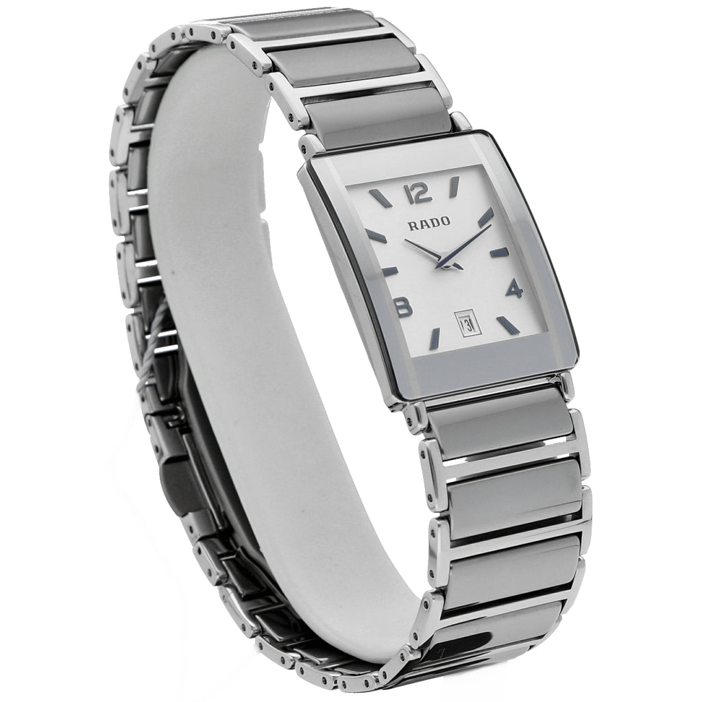 Rado Integral Jubile R20486112 Steel Ceramic White Dial Quartz Ladies Watch Los Angeles California - Sarasota Watch Company