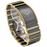 Rado Integral Jubile R20751752 Black Ceramic Gold Diamond Quartz Wrist Watch - Sarasota Watch Company