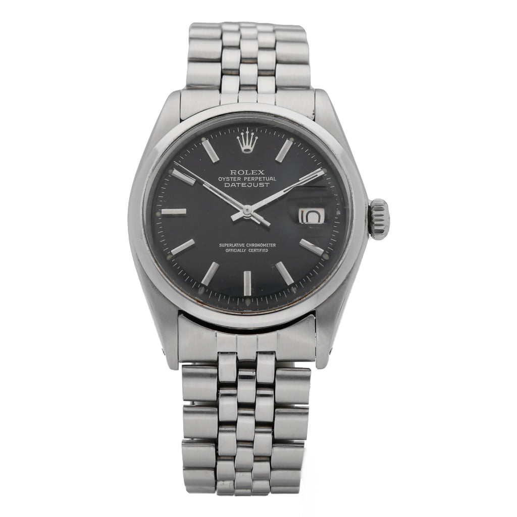 Rolex Datejust Automatic Chronometer Black Dial 1600