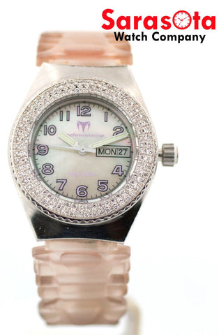 Technomarine Apena B-9 MOP Dial Day/Date Diamond Bezel Quartz Women's Watch