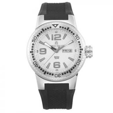 Giorgio Milano ST#873ST0213 Stainless Steel case Rubber Band Men's Sport Watch