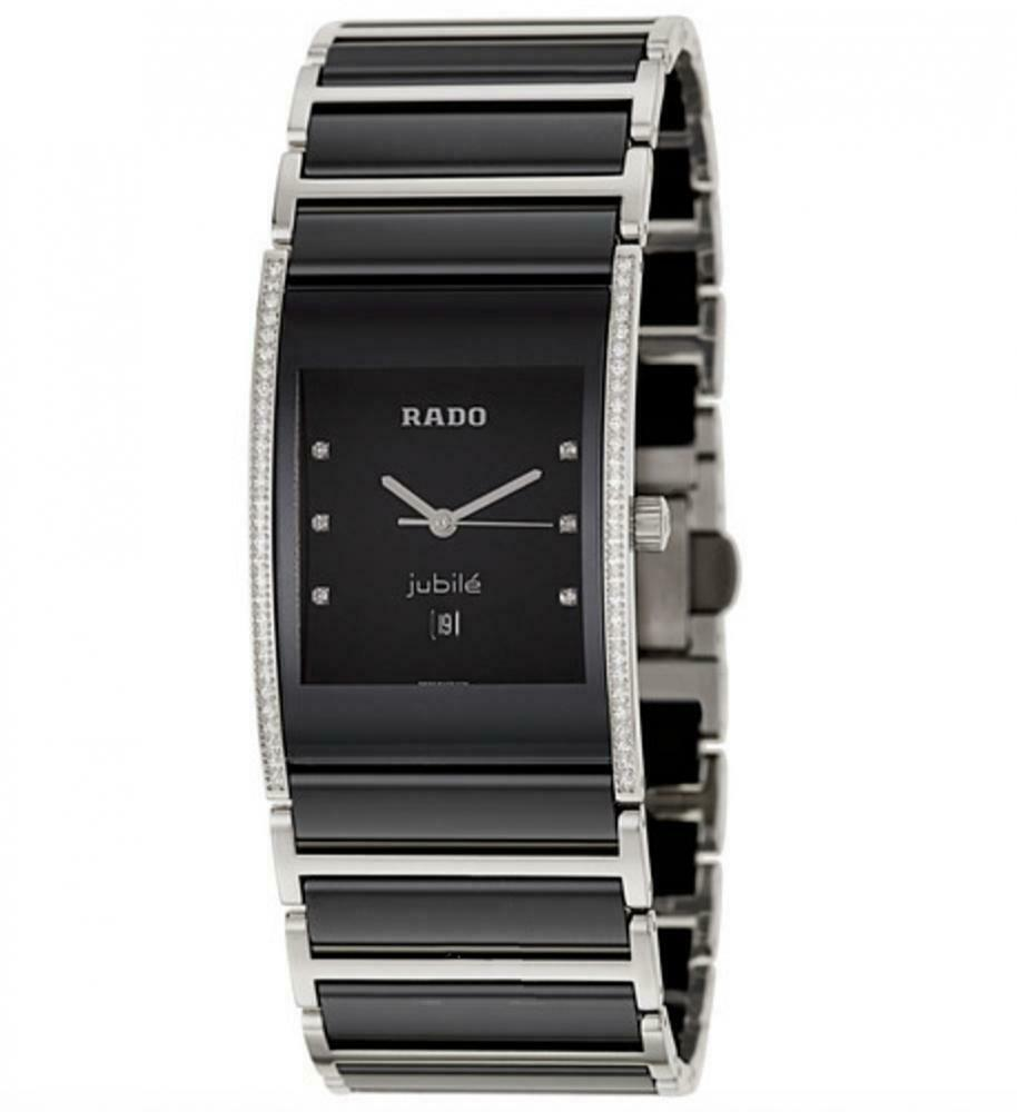 Rado Integral Jubile R20757759 Black Ceramic Diamond's Swiss Quartz Wrist Watch Clearwater Florida - Sarasota Watch Company
