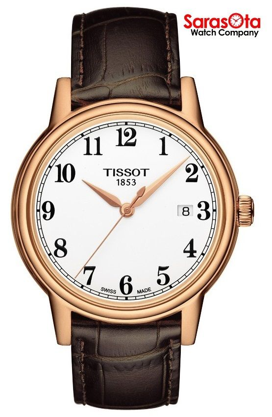 Tissot Carson T085.410.36.012.00 Rose Gold Plated White Dial Quartz Men's Watch - Sarasota Watch Company