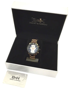 B&H Brandt & Hoffman 14077 Butler Chrono Rose Gold Tone Swiss Quartz Men's Watch