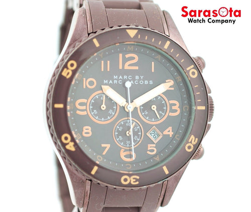 Marc By Marc Jacobs MBM3122 Chrono Brown Steel/Silicone Quartz Women's Watch