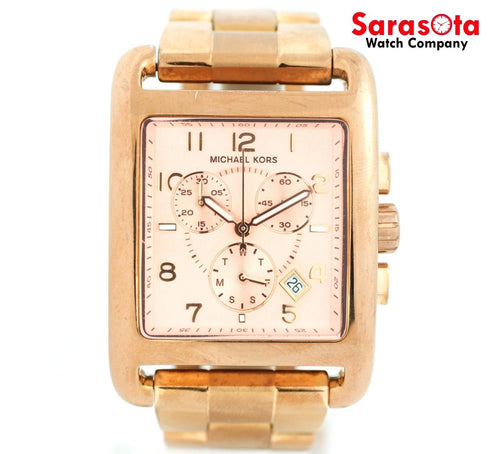 Michael Kors MK5488 Chronograph Rose Gold Tone Stainless Steel Quartz Women's Watch