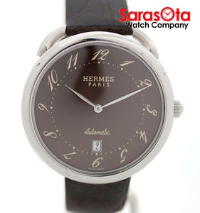 Hermes Aruso AR4.810 Brown Dial Stainless Steel Automatic Dress Men's Watch