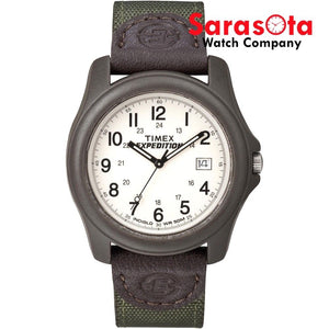 Timex T49101 Expedition WR 50M Indiglo Nylon Leather 38mm Quartz Wrist Watch