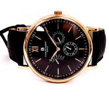 Charles-Hubert Paris 3969-A Brown Dial Quartz Brown Leather Men's Watch