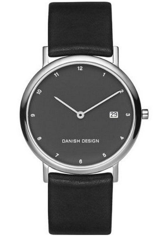 Danish Design IQ16Q272 Black Dial Titanium Quartz Leather Classic Men's Watch