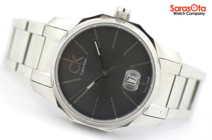 Calvin Klein K77411 Black Dial Stainless Steel Swiss Quartz Dress Men's Watch