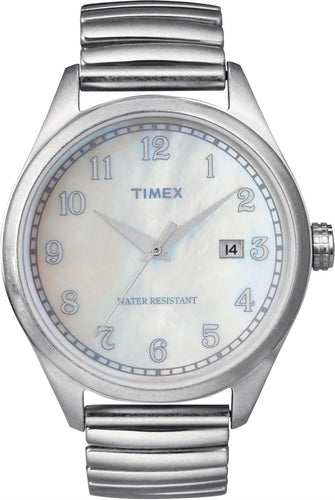 Timex T2N408 Originals Retro MOP Dial Expansion Stainless Steel Unisex Watch
