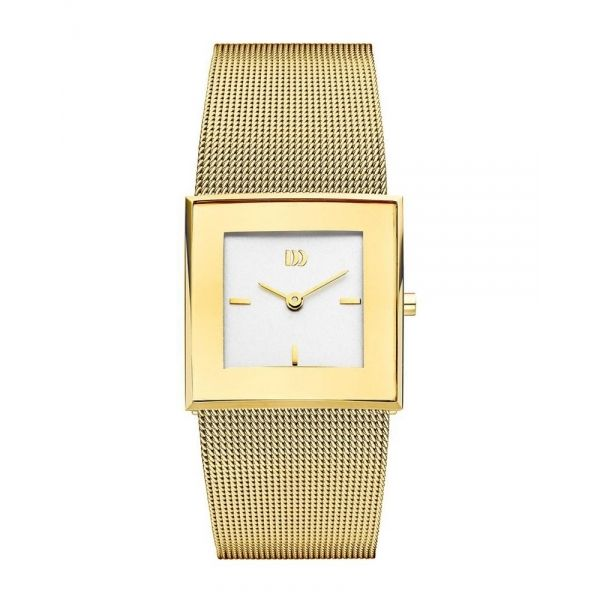 Danish Design IV05Q973 White Dial Gold Tone Stainless Steel Quartz Women's Watch - Sarasota Watch Company