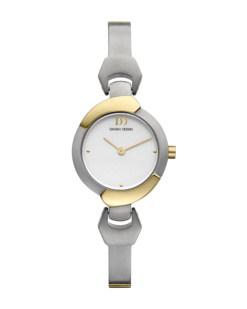 Danish Design IV65Q1013 Silver Dial Two Tone Titanium Quartz Women's Watch - Sarasota Watch Company