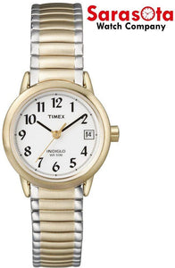 Timex Easy Reader T2H381 Two Tone Stainless Steel Expansion Quartz Women's Watch