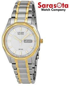 Citizen Eco Drive BM8434-58A White Dial Two Tone Stainless Steel Men's Watch