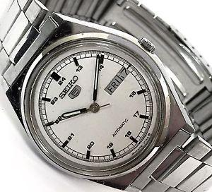 Vintage Seiko 5 Automatic Day/Date Stainless Steel Casual Analog Men's Watch - Sarasota Watch Company