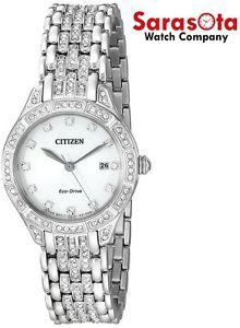 Citizen Eco Drive EW2320-55A Crystal Accented Silver Dial Steel Women's Watch