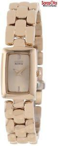 Citizen Eco-Drive EG2903-51Q Rose Gold Tone Steel Rectangle Women's Watch