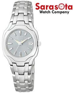 Citizen Eco Drive EW1250-54A Gray Dial Stainless Steel Classic Women's Watch