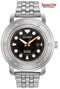 Citizen Eco Drive AW1530-65E 46mm Black Dial Stainless Steel WR200M Men's Watch
