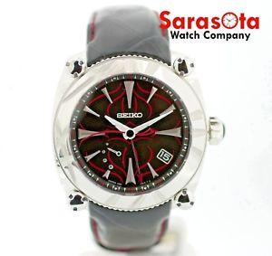 Seiko Galante SBLA083 Fire Limited Spring Drive GMT Steel Leather Men's Watch - Sarasota Watch Company