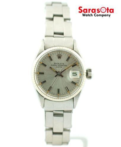 Rolex Oyster Perpetual 6623 Silver Dial  Stainless Steel Automatic Women's Watch