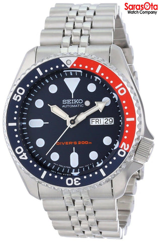 Seiko SKX175 Day/Date Blue Dial Stainless Steel 200M Diver Sport Men's Watch