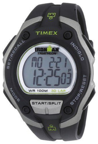 Timex T5K412 Ironman Traditional 30-Lap Black Resin Sport Men's Watch