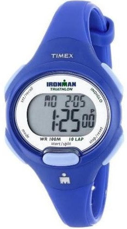 Timex T5K784 Ironman Day/Date Blue Resin Strap Digital Sport Women's Watch