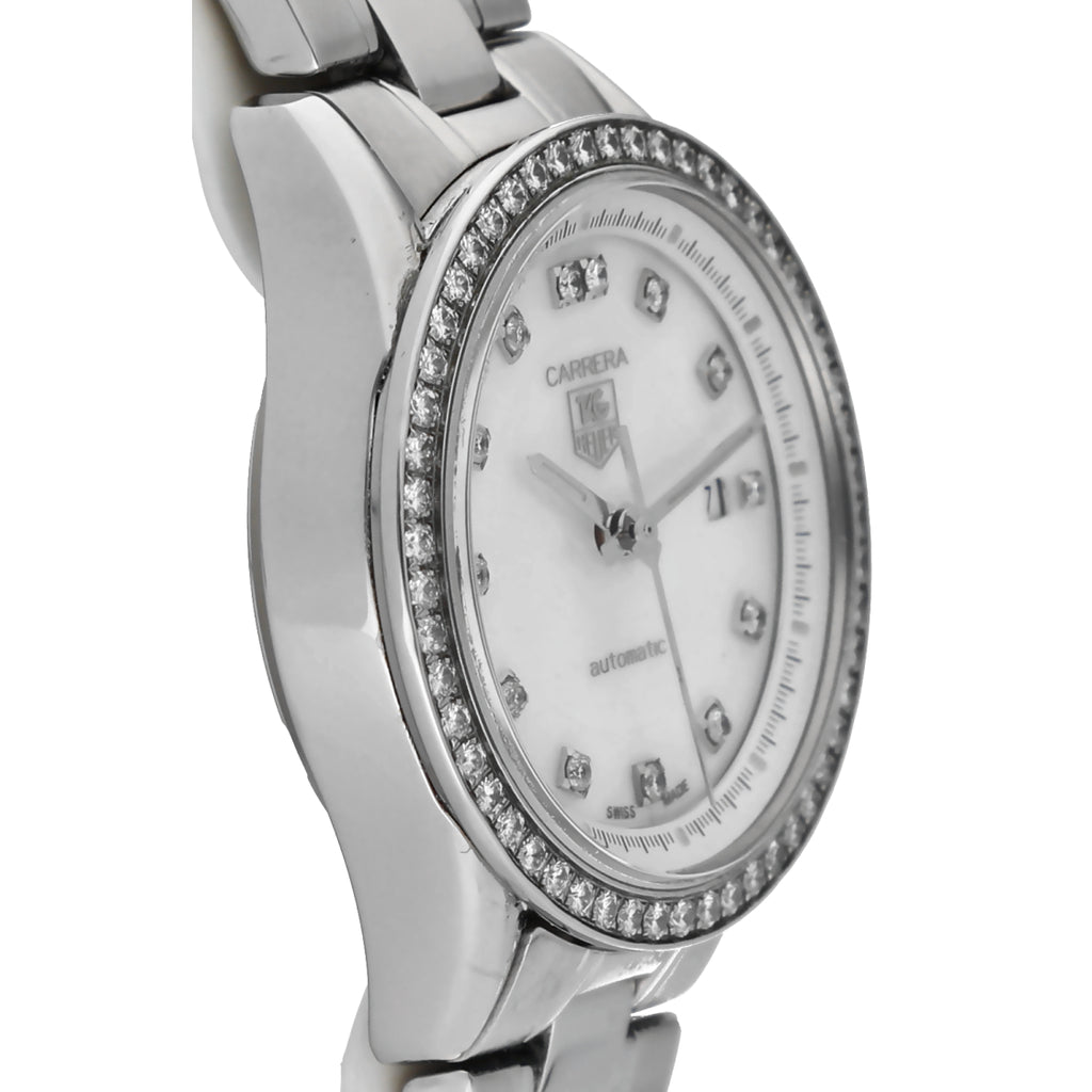 Tag Heuer Carrera WV2413 Mother of Pearl Diamonds 28mm Automatic Women's Watch